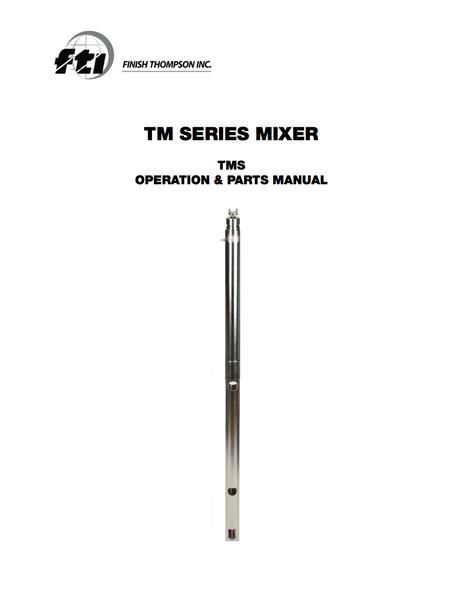 TM - Drum Mixer - Finish Thompson, Inc